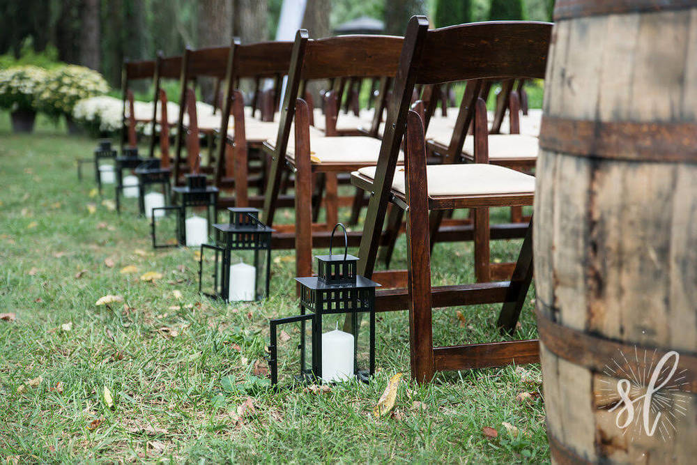 ... White Garden Chair Rentals; White Resin Folding Chairs; Fruitwood  Folding Chairs