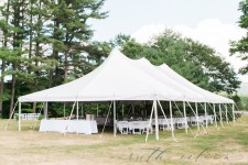 40' x 80' high peaked pole tent