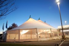Sailcloth tent with sides