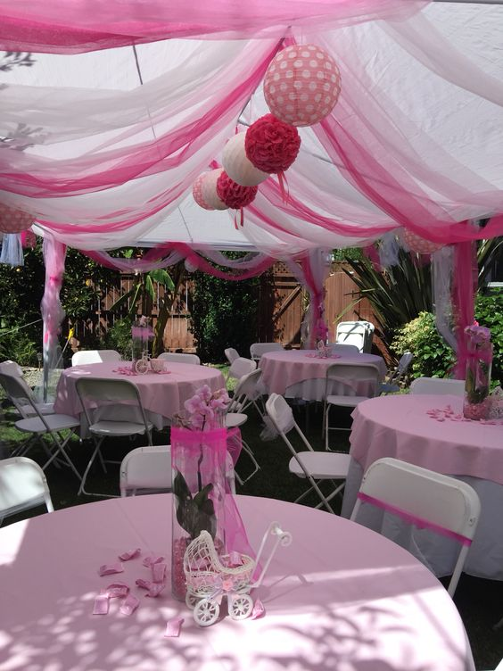 A tent for any event lakes region tent event for Baby shower decoration ideas for outdoors