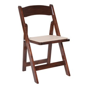 Fruitwood Folding Chair with Pad