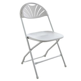 Fanback White Folding Chairs