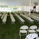 white plastic graduation chairs