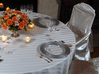 Imperial Stripe Linens for Rent