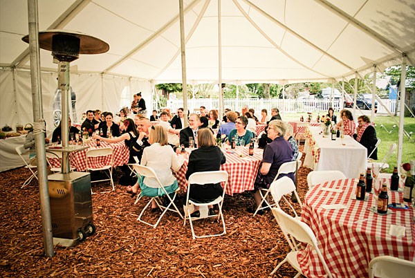 Patio heaters create warm zones inside and outside & Outdoor Fall Weddings: How to Keep Guests Warm | Lakes Region Tent ...