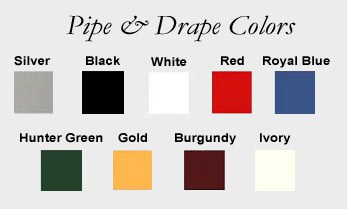 Pipe & Drape Colors