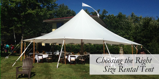 How to Choose the Right Size Rental Tent