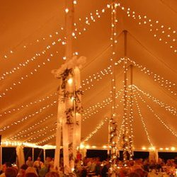 We have several lighting options for weddings and special events