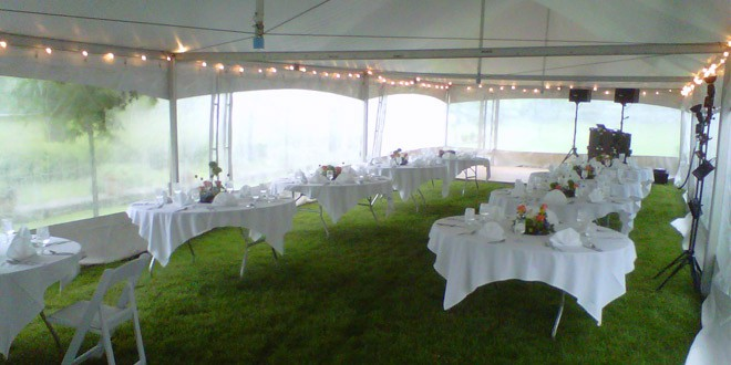 Tent Sidewall Rentals & Outdoor Fall Weddings: How to Keep Guests Warm | Lakes Region Tent ...