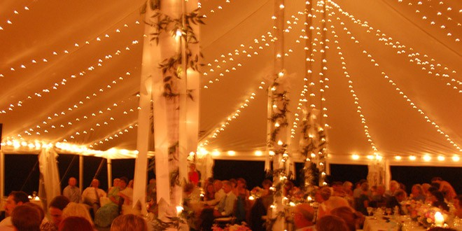 Twinkle Lighting for Tent Weddings & 6 Lighting Options to Make Your Wedding Tent Sparkle | Lakes ...