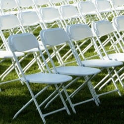 Plastic folding chairs for rent