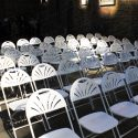 Fanback folding chair for rent
