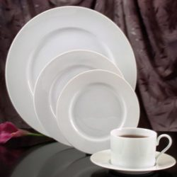 We rental White China for weddings and special events