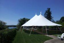 Sailcloth tent wolfboro tent rental